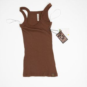 Powder Room Womens Tank Top Brown Size S